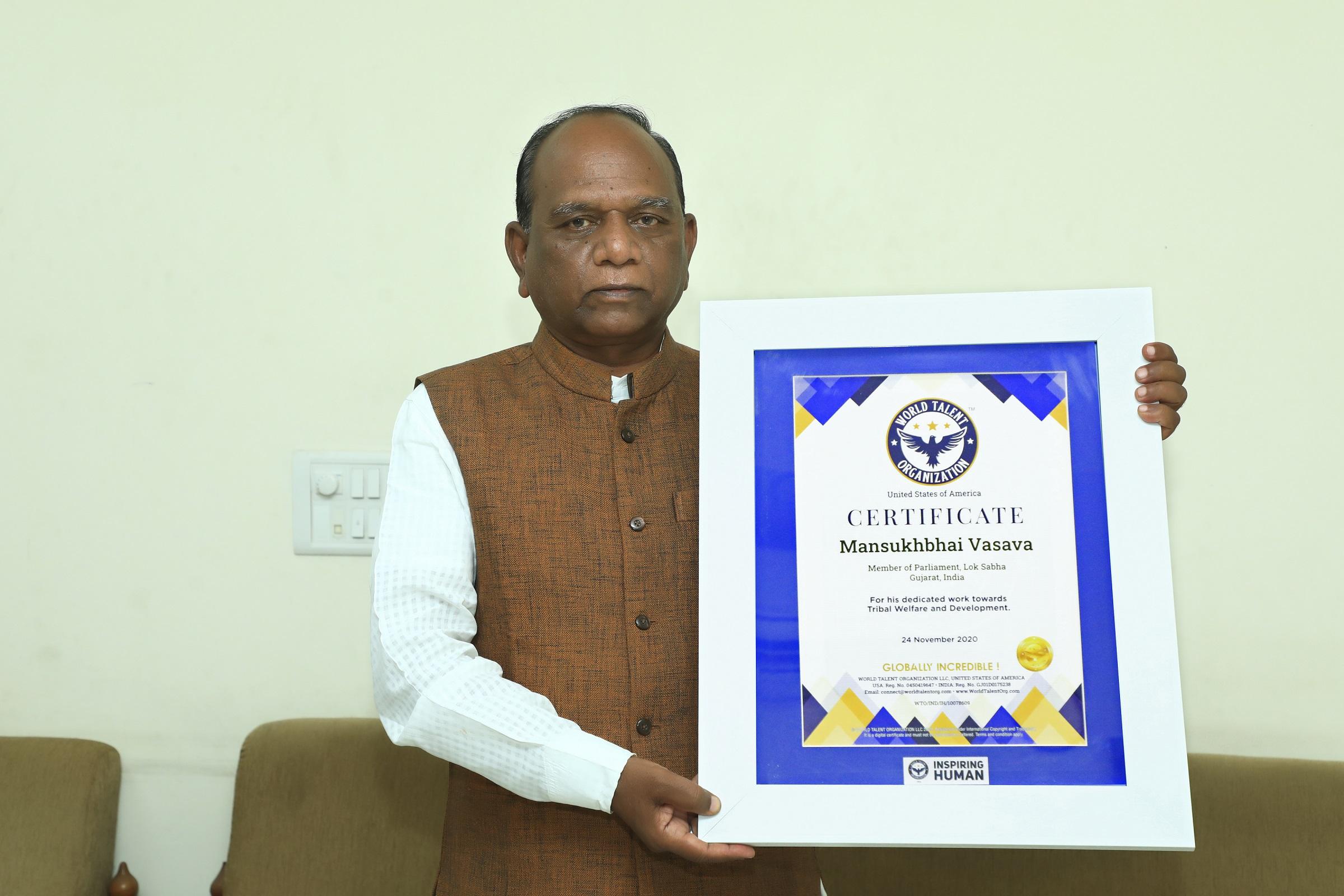 Shri Mansukhbhai Dhanjibhai Vasava